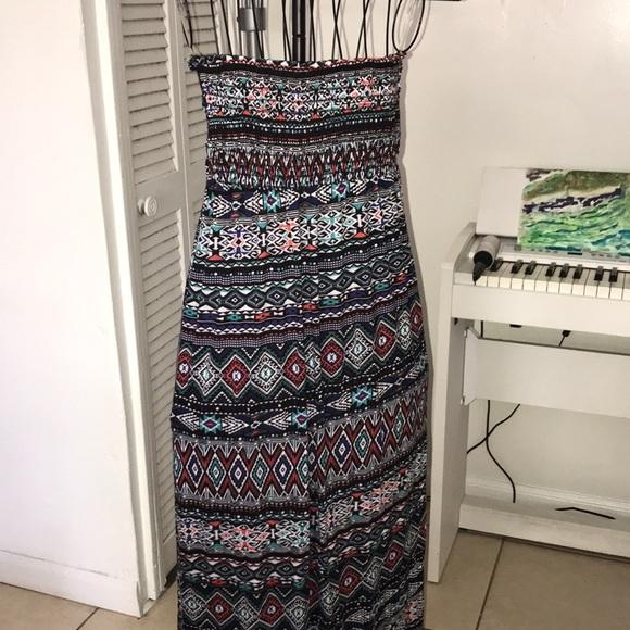 FINAL PRICE Jr plus size tribal summer maxi dress
